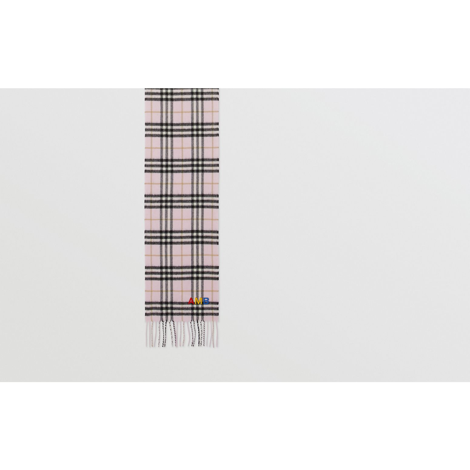 The Mini Classic Vintage Check Cashmere Scarf in Alabaster - Children | Burberry United States - gallery image 1