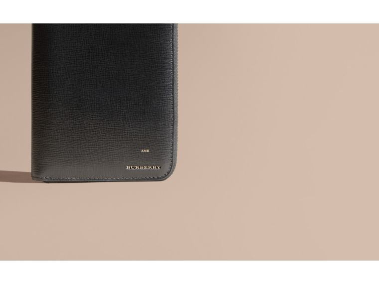 London Leather Ziparound Wallet in Black - cell image 1
