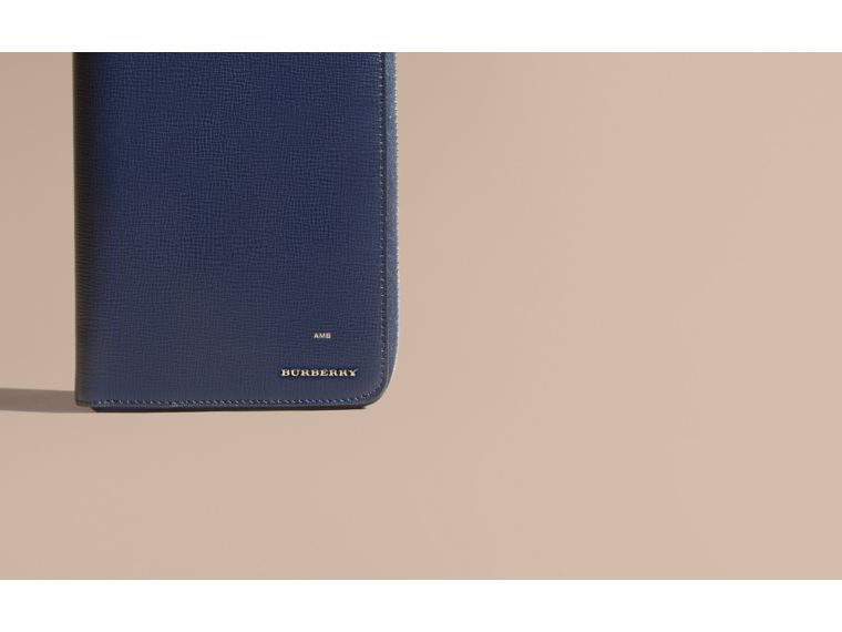 London Leather Ziparound Wallet in Dark Navy | Burberry - cell image 1