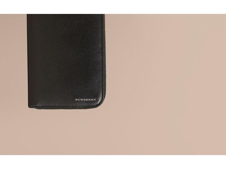 London Leather Ziparound Wallet in Black | Burberry - cell image 1