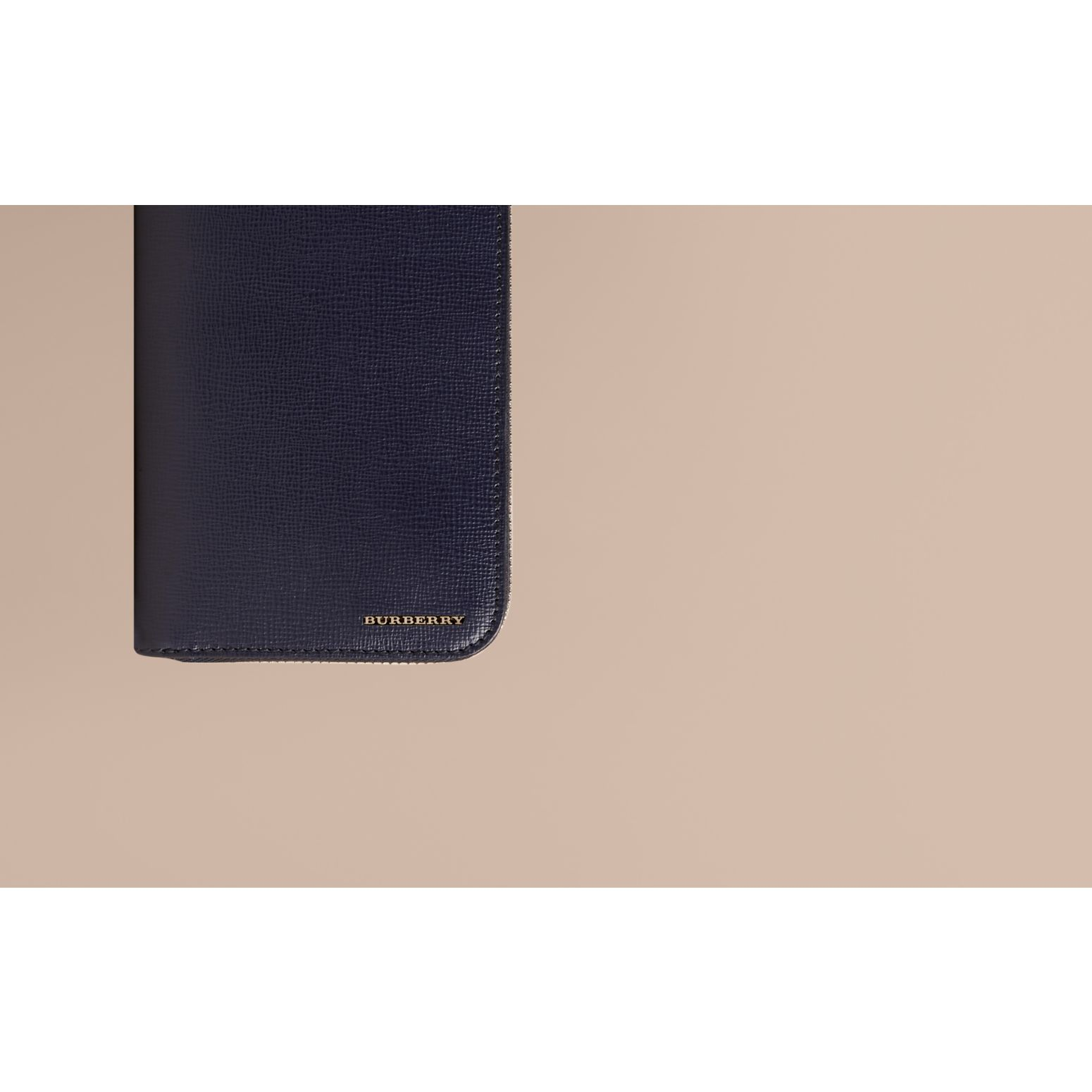 London Leather Ziparound Wallet Dark Navy - gallery image 2