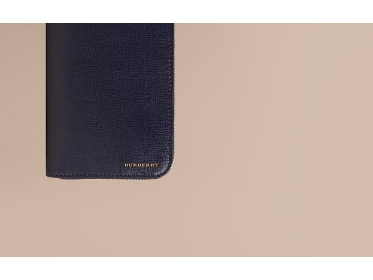 London Leather Ziparound Wallet Dark Navy - cell image 1
