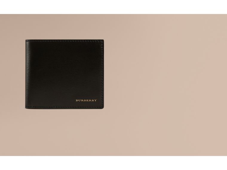 London Leather International Bifold Coin Wallet in Black | Burberry - cell image 1