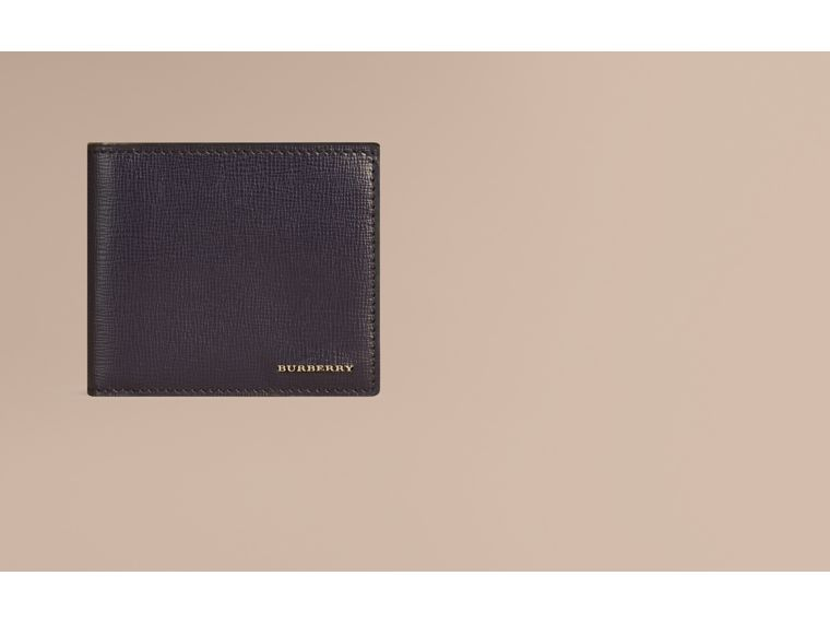 London Leather International Bifold Coin Wallet in Dark Navy - Men | Burberry - cell image 1