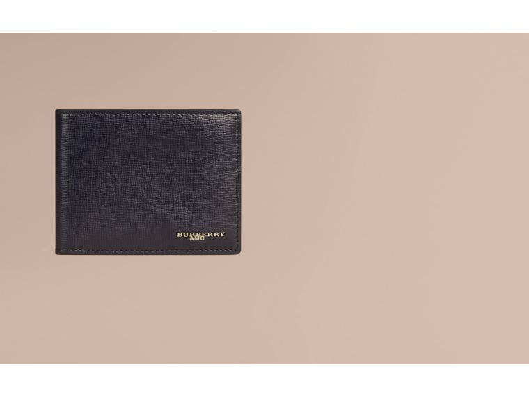 London Leather Bifold Wallet in Dark Navy - cell image 1