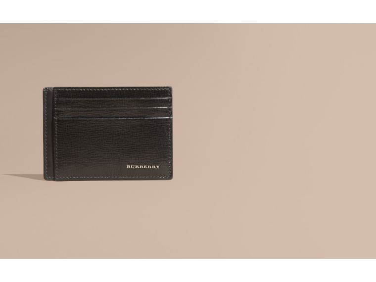London Leather Card Case in Black | Burberry Canada - cell image 1