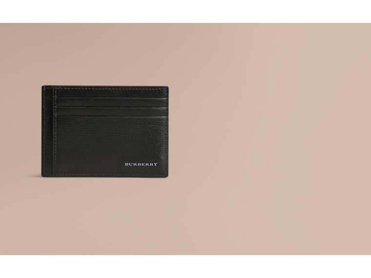 London Leather Money Clip Card Case Black - cell image 1