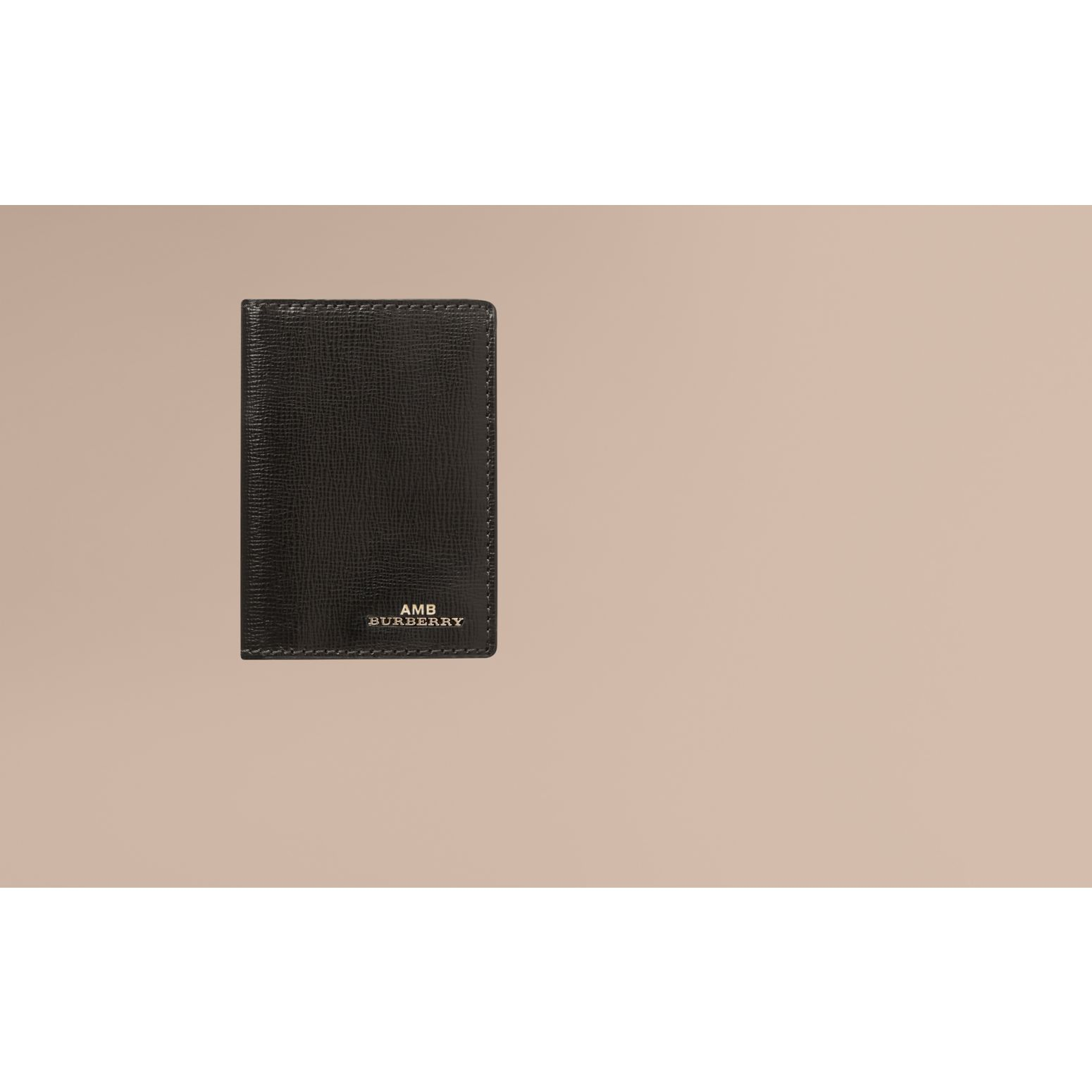 London Leather Folding Card Case in Black - gallery image 2
