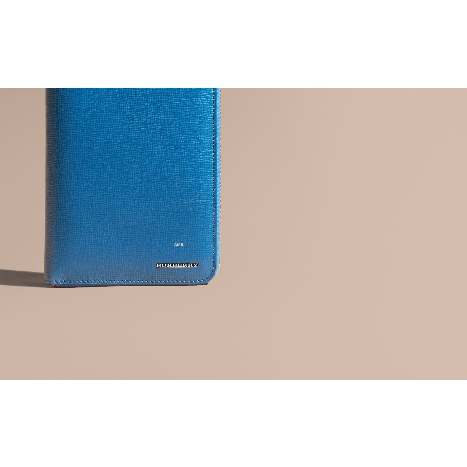 Mineral blue London Leather Ziparound Wallet Mineral Blue - gallery image 2