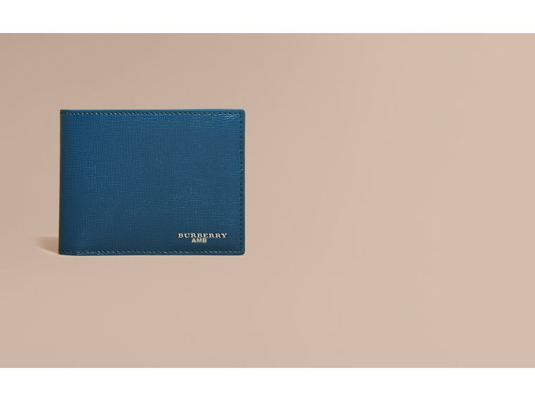 London Leather Slim Folding Wallet Mineral Blue - cell image 1