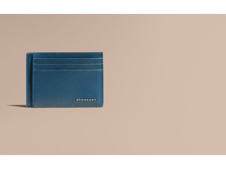Mineral blue London Leather Card Case Mineral Blue - cell image 1