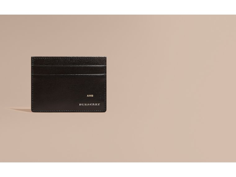 London Leather Card Case in Black | Burberry - cell image 1