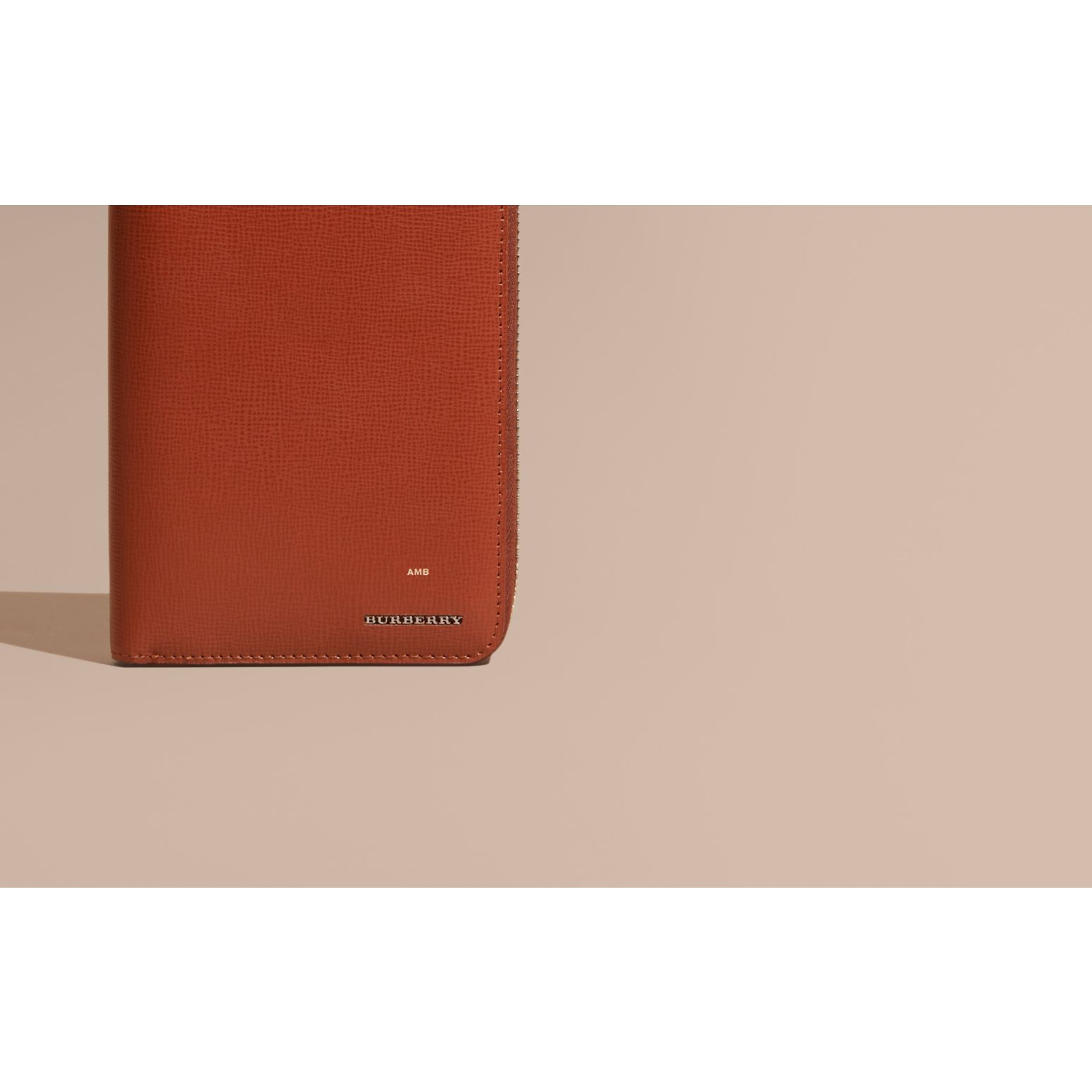 London Leather Ziparound Wallet Burnt Sienna - gallery image 2