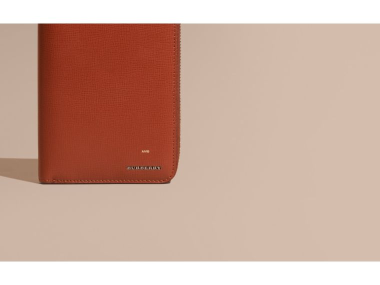 Burnt sienna London Leather Ziparound Wallet Burnt Sienna - cell image 1