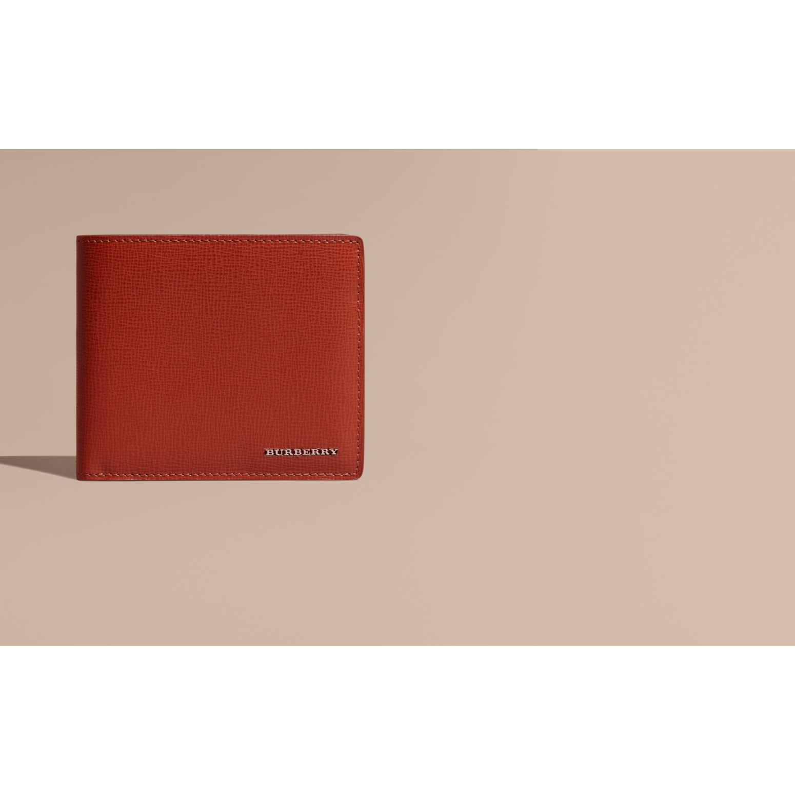 Burnt sienna London Leather Folding Wallet Burnt Sienna - gallery image 2