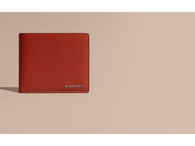 Burnt sienna London Leather Folding Wallet Burnt Sienna - cell image 1