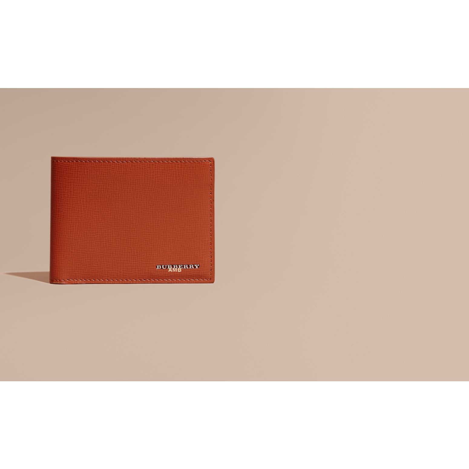 London Leather Slim Folding Wallet Burnt Sienna - gallery image 2