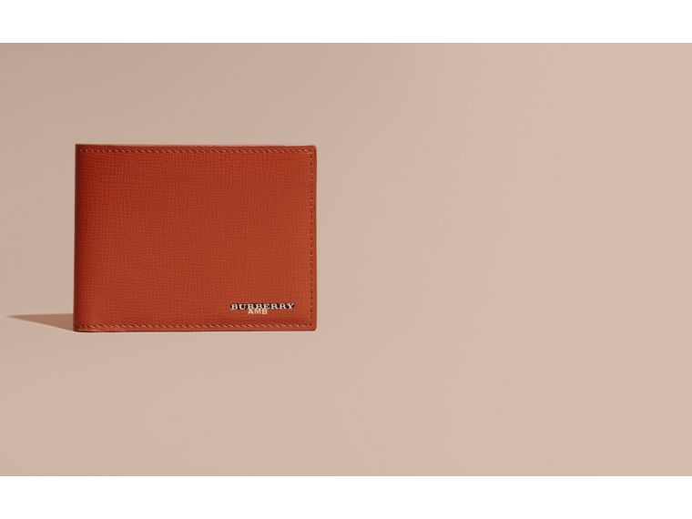 London Leather Slim Folding Wallet Burnt Sienna - cell image 1