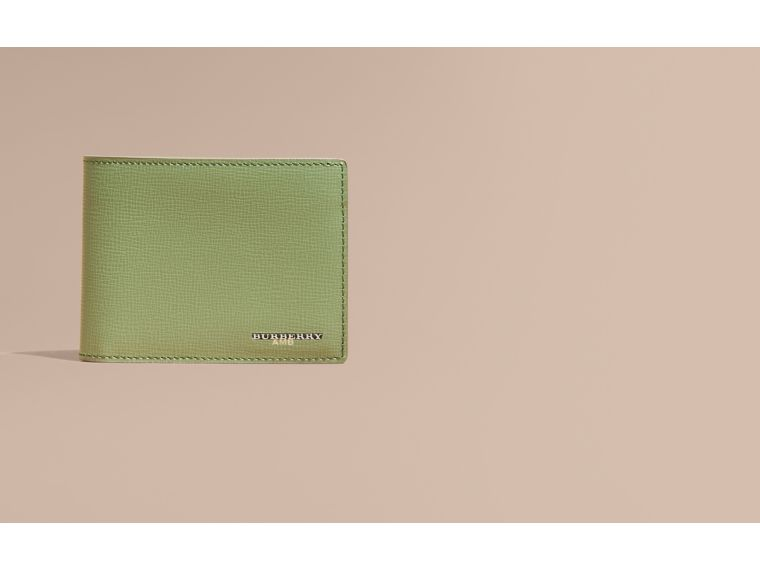 London Leather Slim Folding Wallet Antique Green - cell image 1