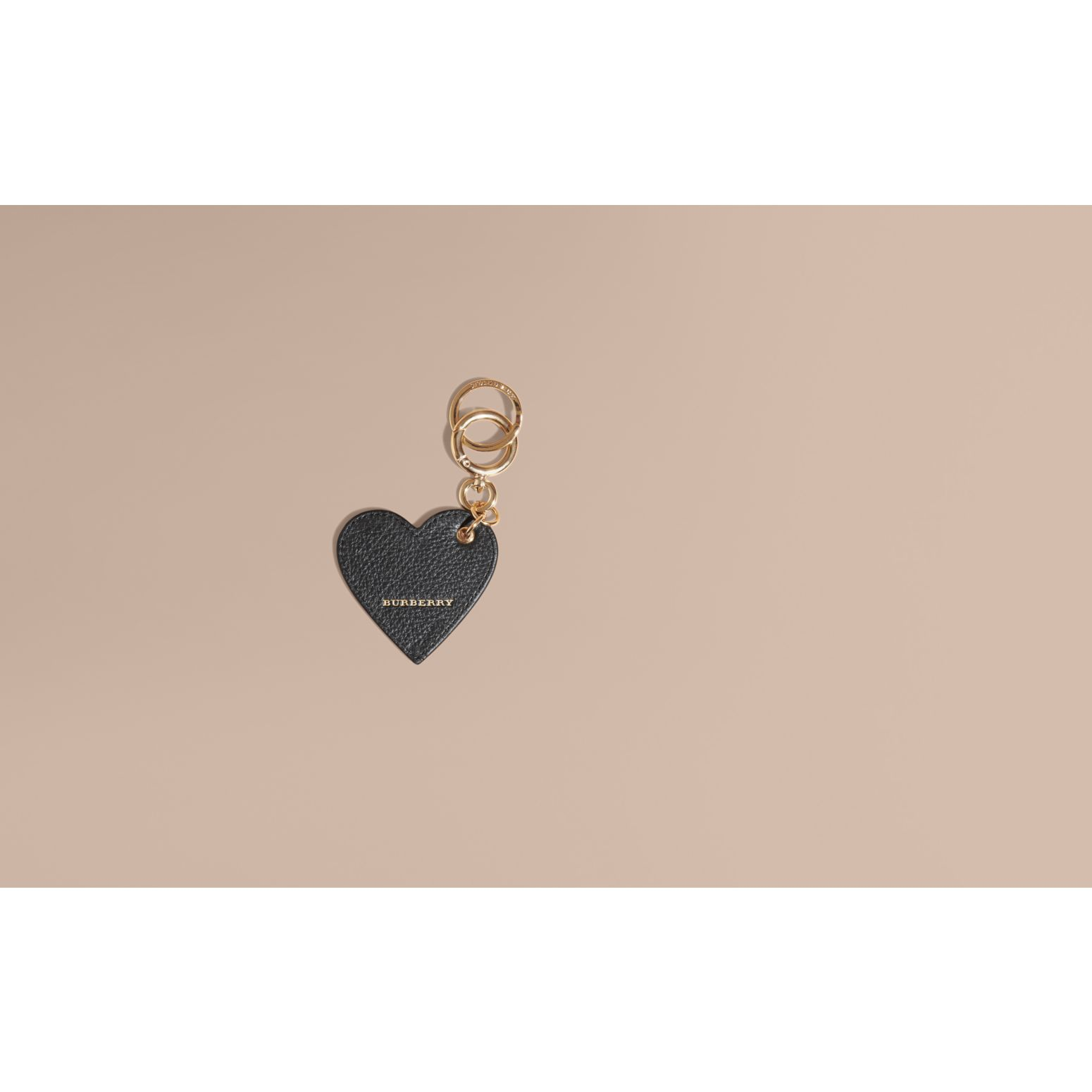 Sequinned Heart Key Charm - gallery image 2