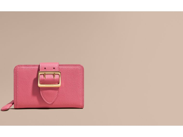 Pink azalea Buckle Detail Grainy Leather Wallet Pink Azalea - cell image 1