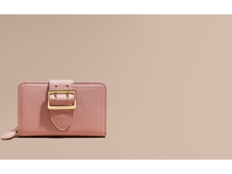 Dusty pink Buckle Detail Grainy Leather Wallet Dusty Pink - cell image 1