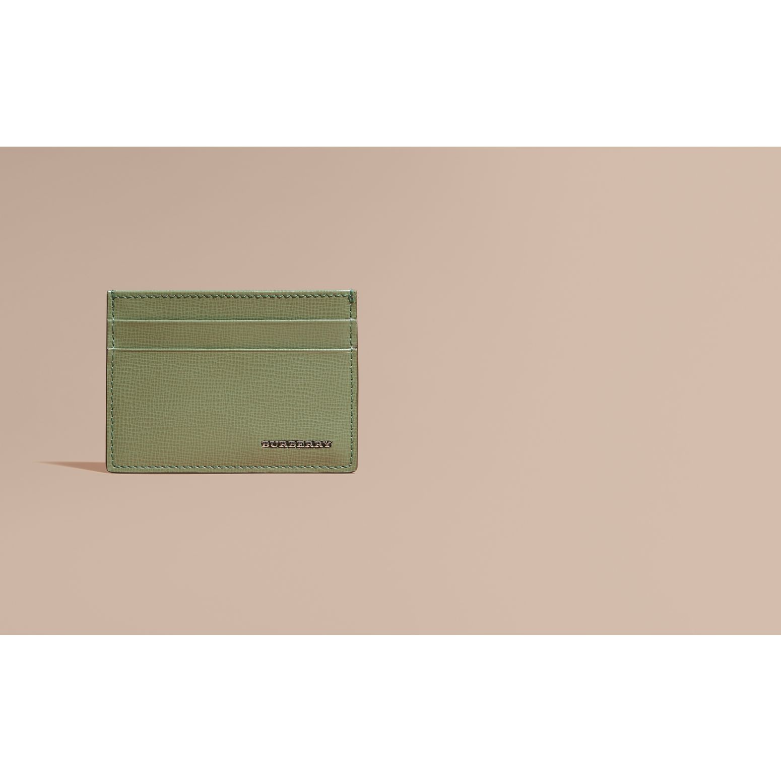 London Leather Card Case Antique Green - gallery image 2
