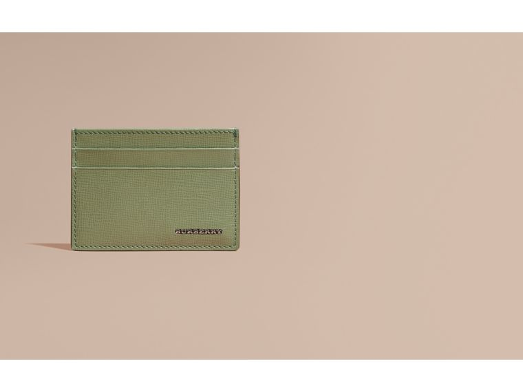 London Leather Card Case Antique Green - cell image 1