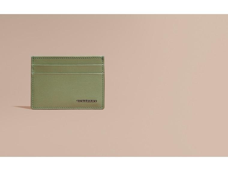 런던 가죽 카드 케이스 앤티크 그린 - cell image 1