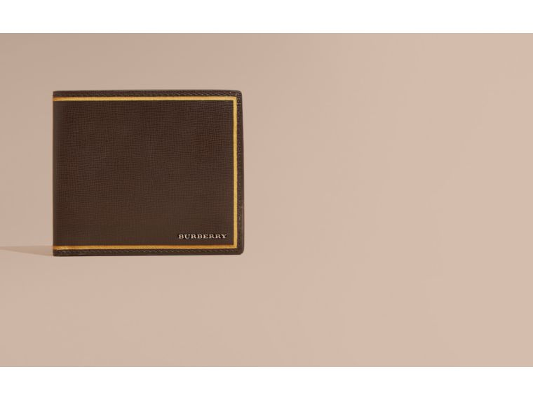 Peppercorn Border Detail London Leather Folding Wallet Peppercorn - cell image 1