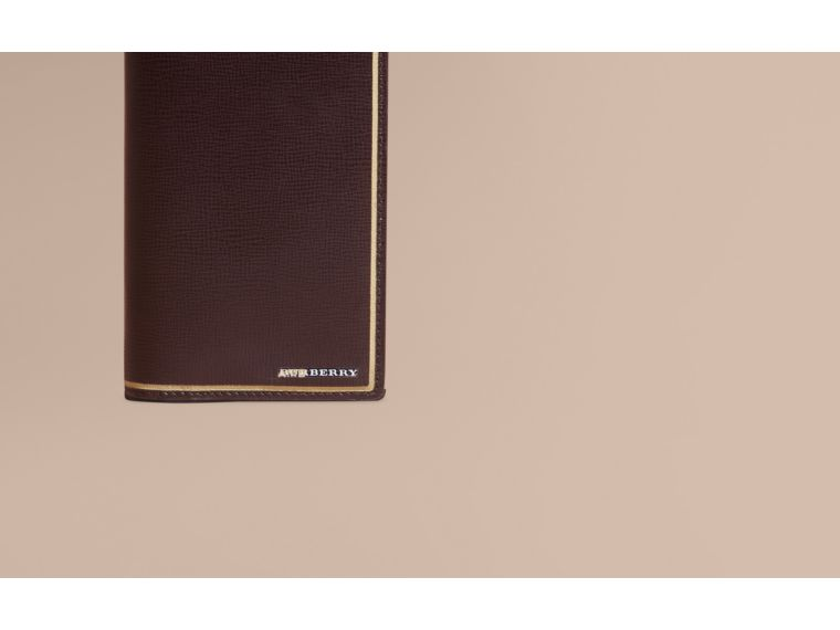 Peppercorn Border Detail London Leather Continental Wallet Peppercorn - cell image 1