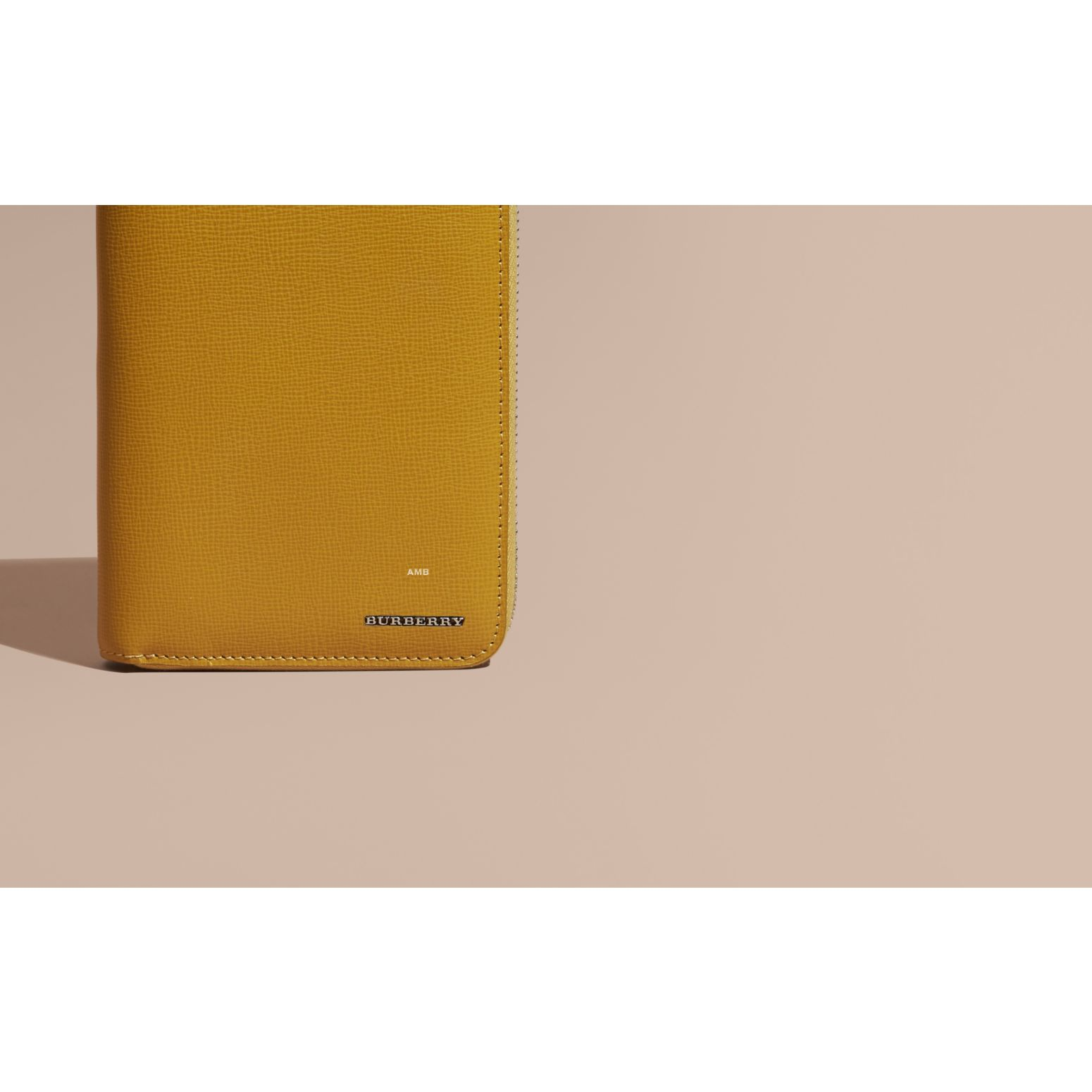 London Leather Ziparound Wallet Larch Yellow - gallery image 2