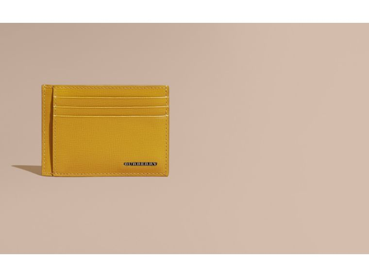 London Leather Card Case Larch Yellow - cell image 1