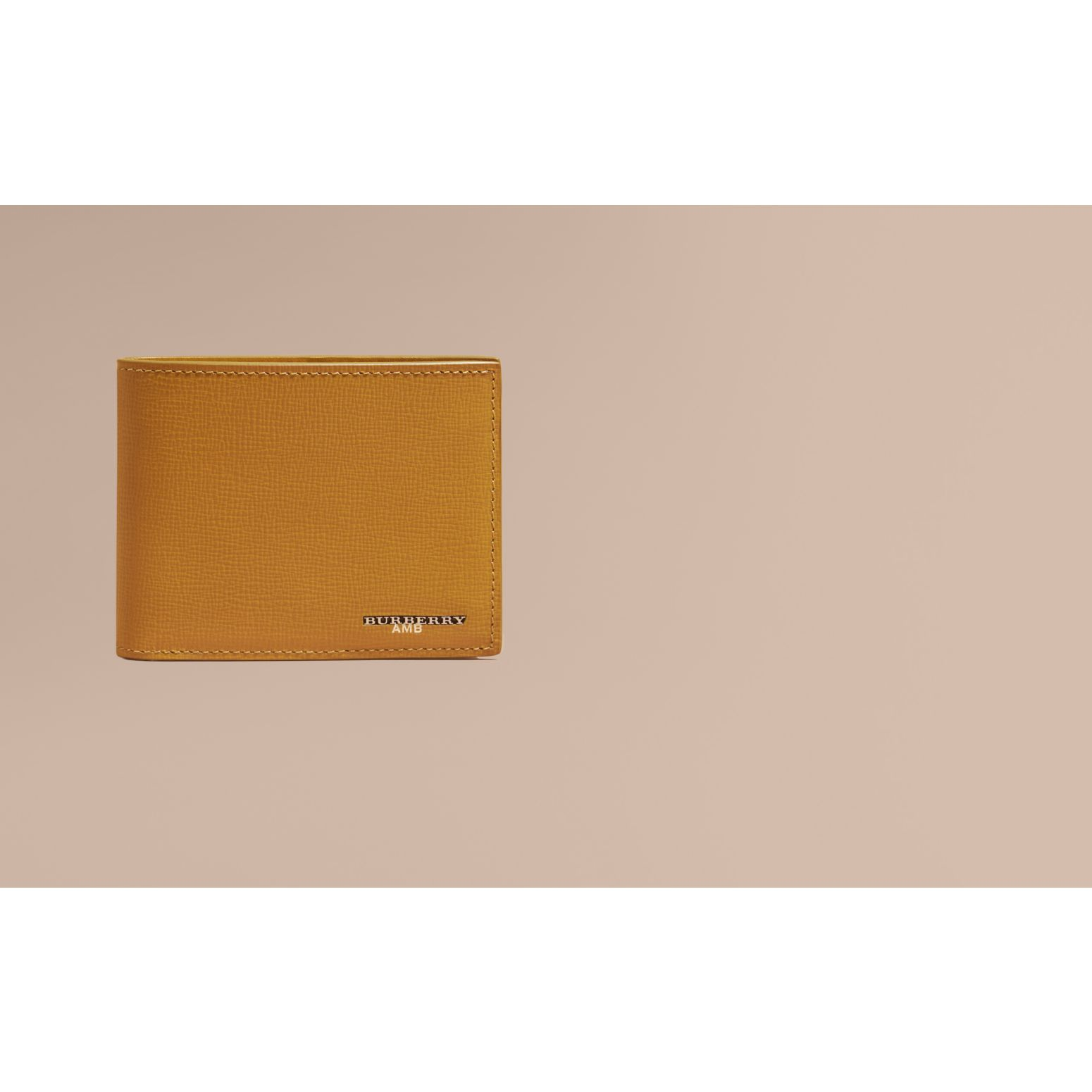 London Leather Folding Wallet Larch Yellow - gallery image 2
