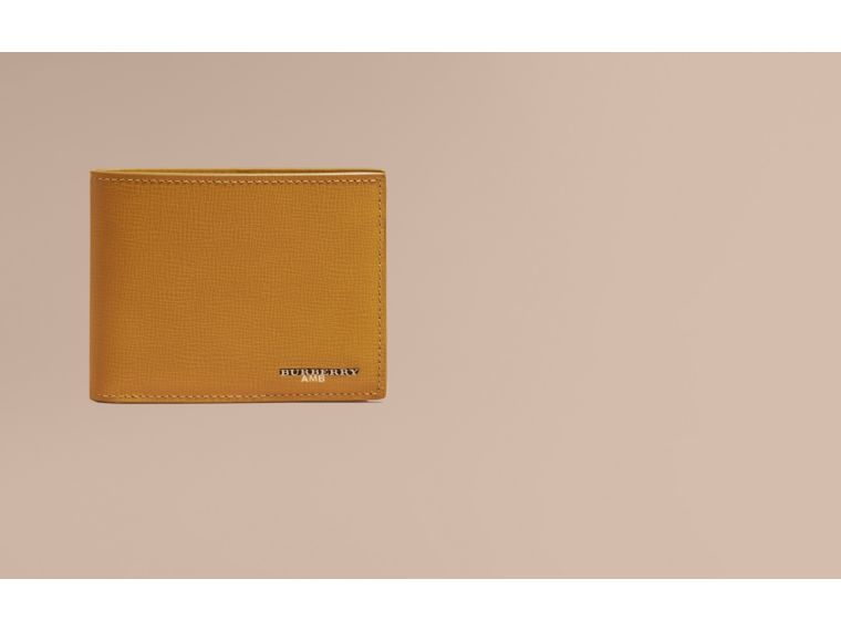 London Leather Folding Wallet Larch Yellow - cell image 1