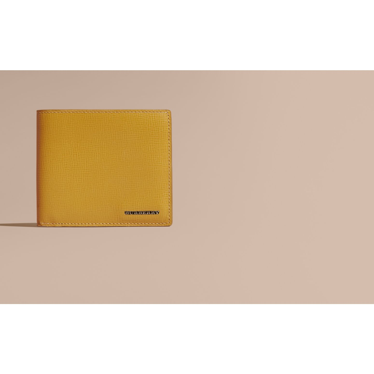 Larch yellow London Leather Folding Wallet Larch Yellow - gallery image 2