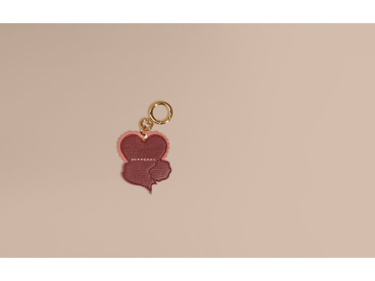 Mauve pink Leather Romance Charm - cell image 1