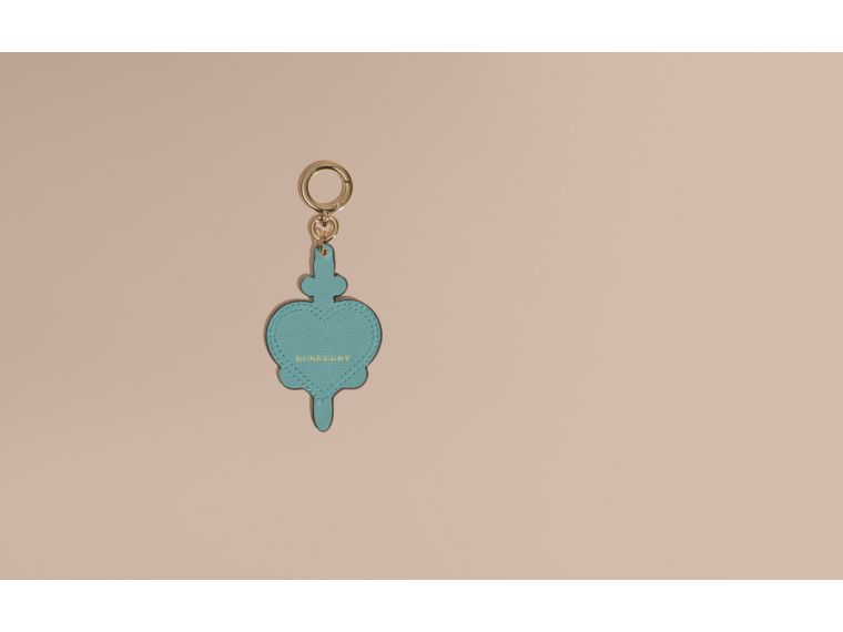 Storm green Longing Motif Leather Key Charm - cell image 1