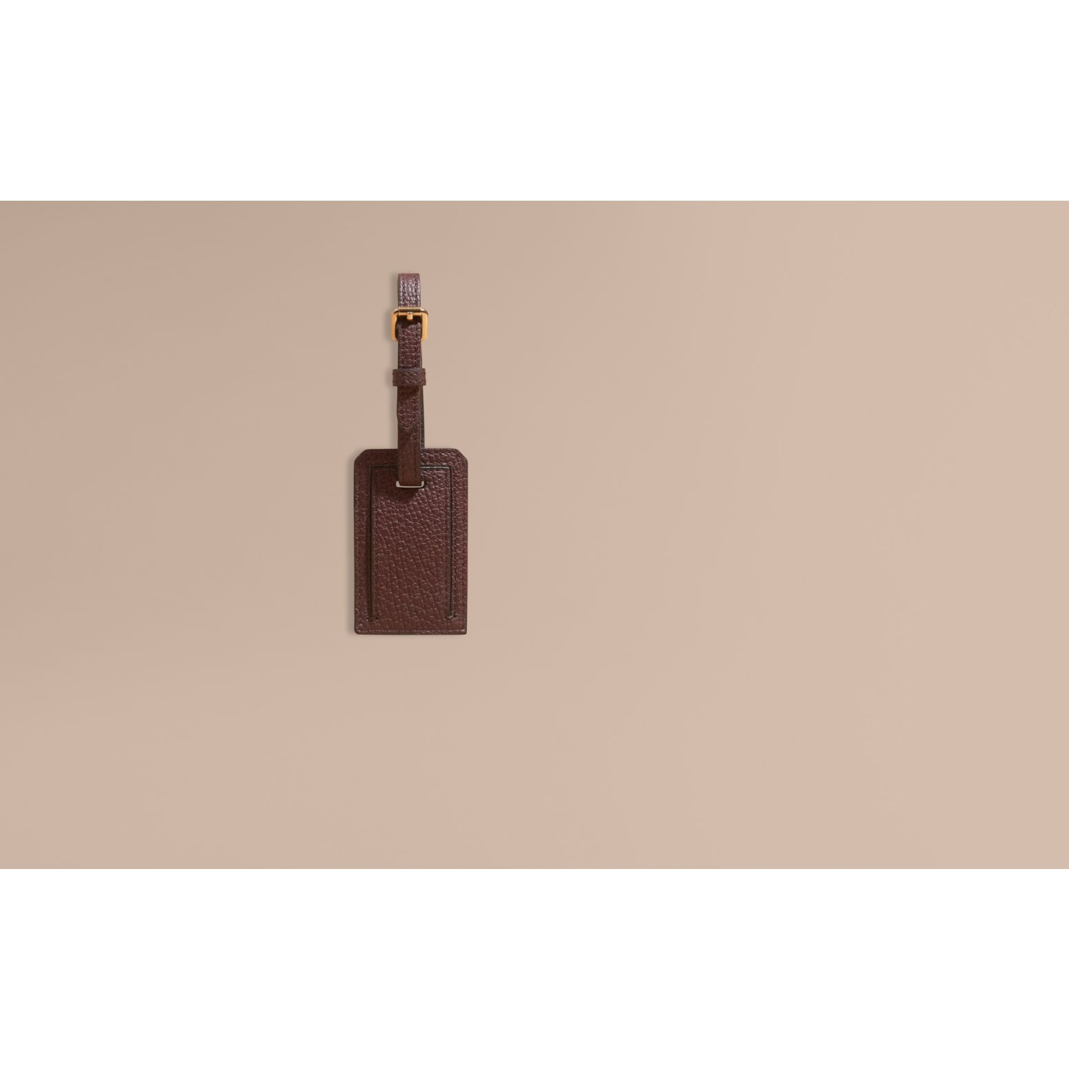 Wine Leather and House Check Luggage Tag Wine - gallery image 2