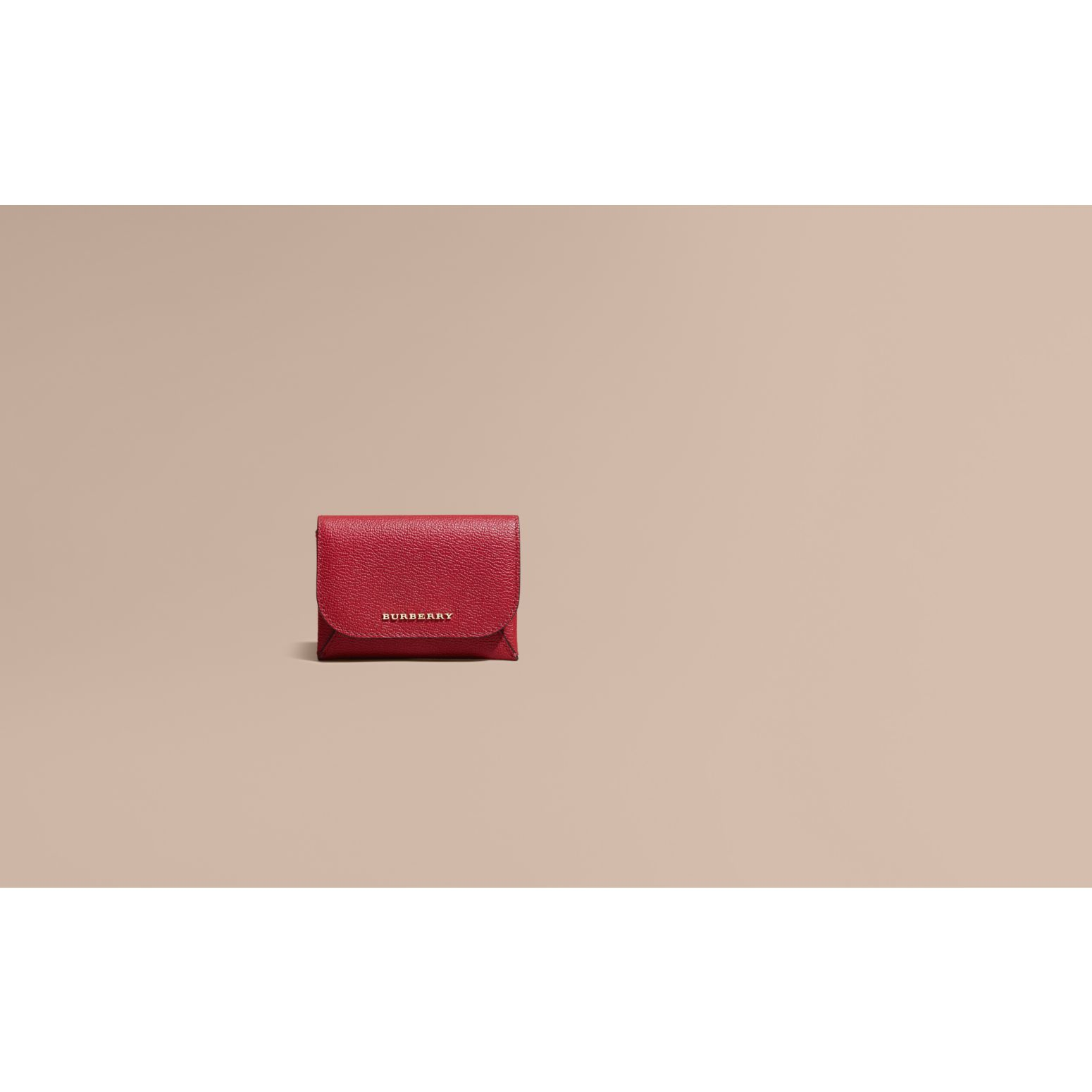 Leather Coin Case with Removable Card Compartment in Parade Red - Women | Burberry - gallery image 2