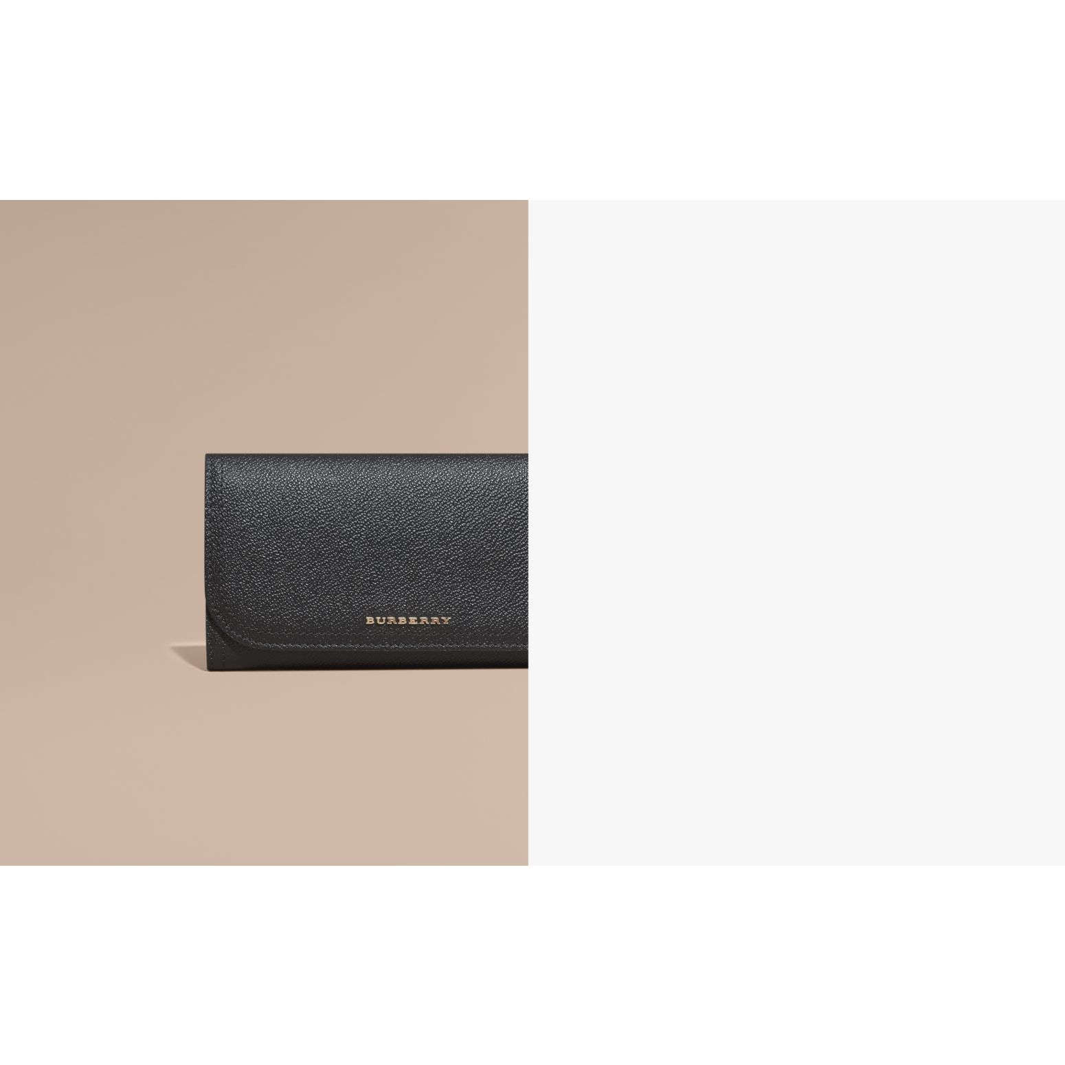 Leather Continental Wallet with Removable Coin Case in Black - Women | Burberry Australia - gallery image 2