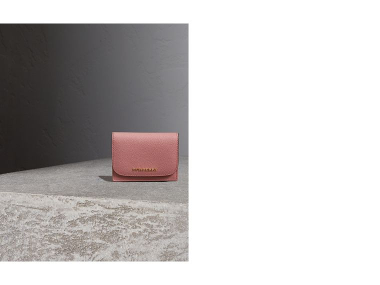 Grainy Leather Card Case in Dusty Pink - Women | Burberry United Kingdom - cell image 1