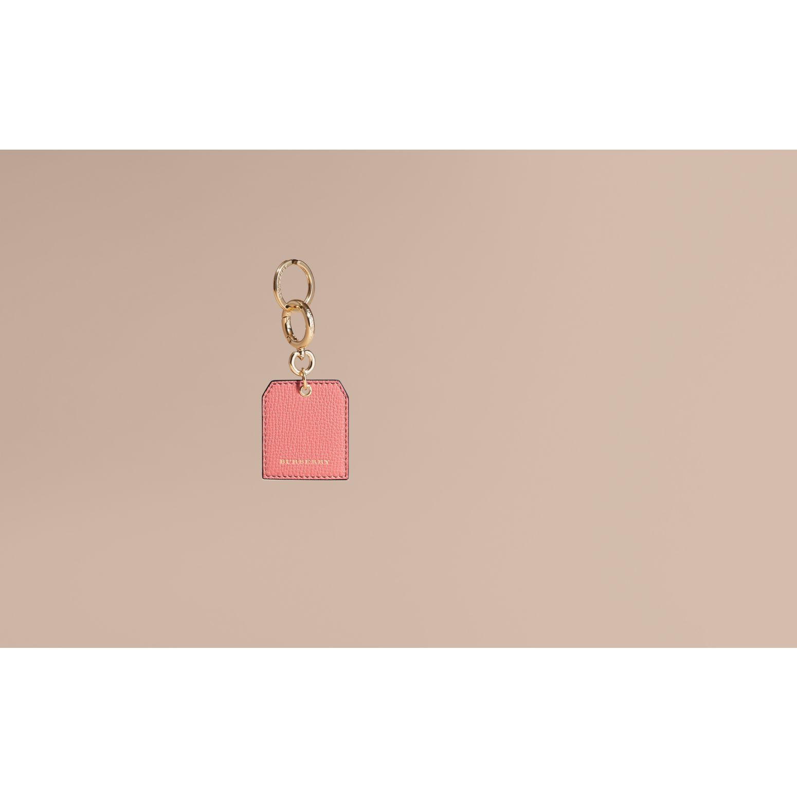 Grainy Leather Key Charm in Copper Pink | Burberry - gallery image 2