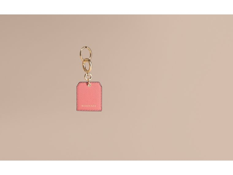 Grainy Leather Key Charm in Copper Pink - Women | Burberry - cell image 1