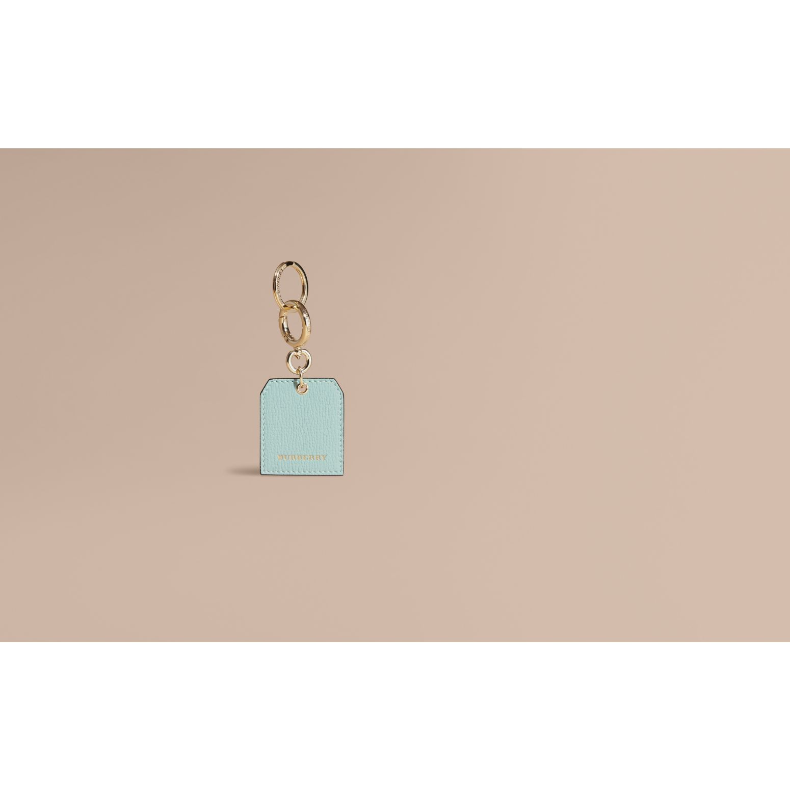 Grainy Leather Key Charm in Pale Opal | Burberry - gallery image 2