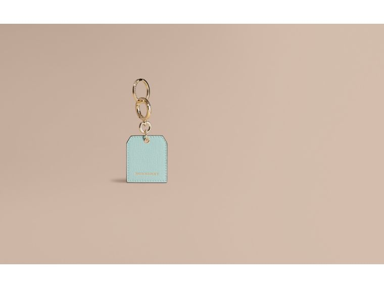 Grainy Leather Key Charm in Pale Opal - Women | Burberry - cell image 1