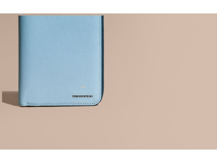 London Leather Ziparound Wallet Powder Blue - cell image 1