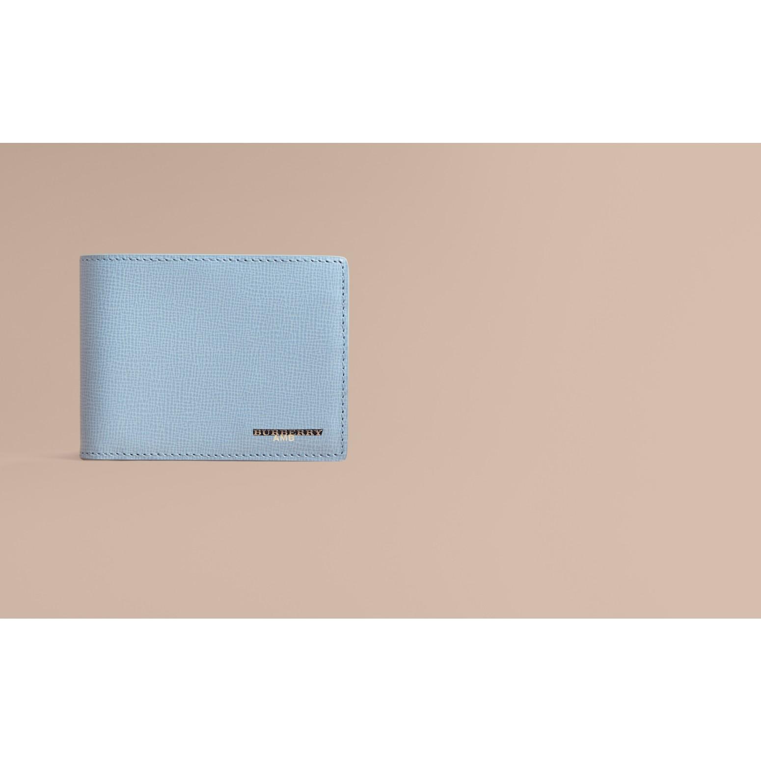 London Leather Slim Folding Wallet Powder Blue - gallery image 2