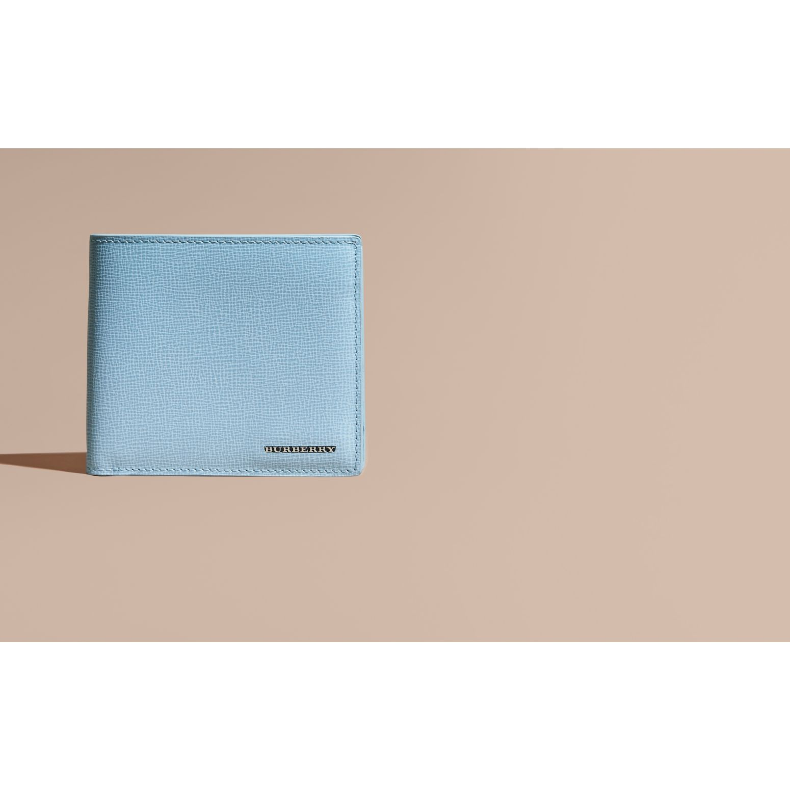 London Leather Folding Wallet Powder Blue - gallery image 2