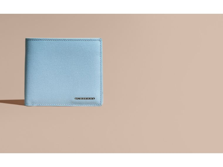 London Leather Folding Wallet Powder Blue - cell image 1